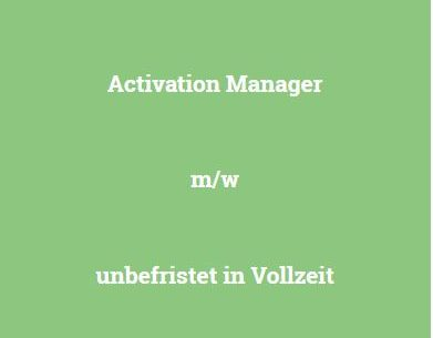 Activation Manager