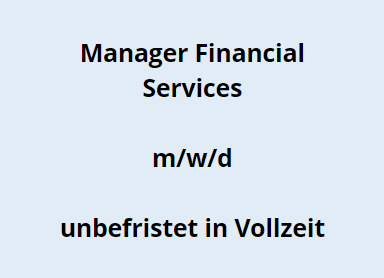Manager Financial Services